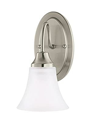 Sea Gull Lighting 41806EN3-962 Holman Wall Sconce, 1-Light LED 9.5 Watts, Brushed Nickel