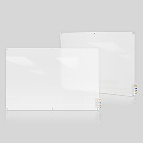 Ghent Harmony Frosted Glass Board w/Radius Corners, Frosted, 96 x 48