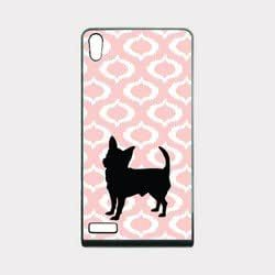 Love Chihuahuas Baby Pink Ikat Hipster Huawei Ascend P6 Case - For Huawei Ascend P6