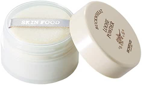 SKIN FOOD Buckwheat Loose Powder 23g #40 Grape - Light Violet Color Powder, Bright Blooming Effect, Minimizes Pores & Perfects Skin, Sets Makeup, Matte Finish