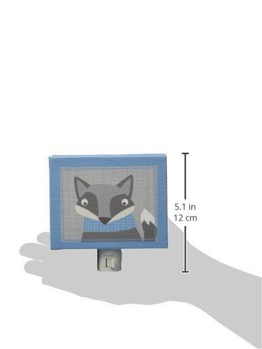 Oopsy Daisy Happy Fox Night Light, Gray/Blue, 5'' x 4'' by Oopsy Daisy (Image #1)