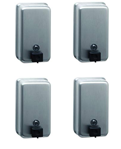 (Bobrick 2111 ClassicSeries Surface-Mounted Soap Dispenser, 40oz, Stainless Steel (Pack of 4))
