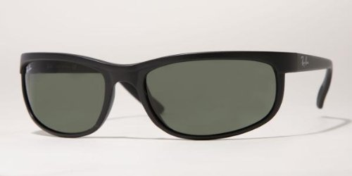 Ray-Ban PREDATOR 2 - BLACK/ MATTE BLACK Frame CRYSTAL GREEN Lenses 62mm - Ray Wayfarers Foldable Ban