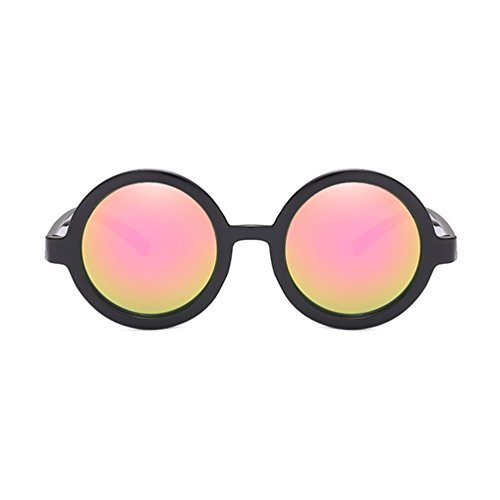 for Lens Protection Armear Pink Women Men UV Sunglasses Mirrored Vintage Round qw1wfBA6