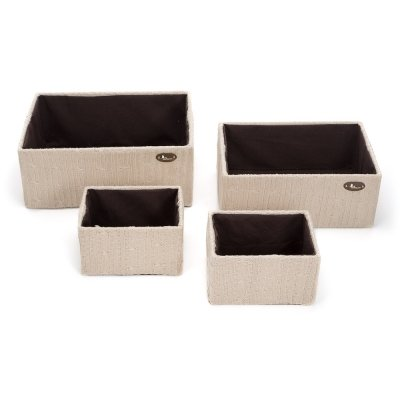Set Cajas de lana BebeDeParis en Beige - cajas de almacenaje para habitación del bebé: Amazon.es: Bebé