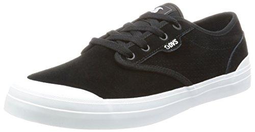 Dvs Cedar Chaussures De Skate Noires En Daim Noires Noires / Blanches