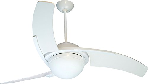 Craftsman Exterior Wall (Craftmade JU54W3 Juna, Three Blade White 54 - Inch Ceiling Fan with Light and Remote)