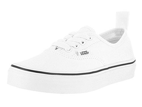 Zapatillas De Skate Vans Kids Authentic Elastic (elastic Lace) (11 M Us Little Kid, (elastic Lace) True White / True White)