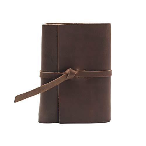 - Rustico Premium Handcrafted Top Grain Leather Photo Album for 4x6 Photos with Old World Style Flap Closure