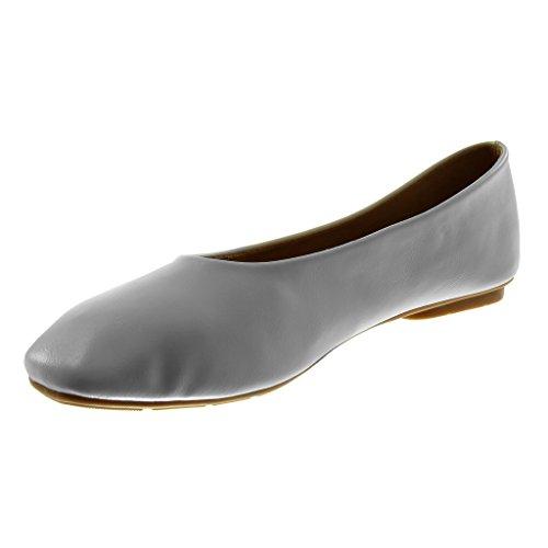 Pelliccia on Piatto Donna Scarpe Angkorly di Leggermente Bianco cm Tacco Ballerina Flessibile Foderato Moda Tacco Slip 1 BzZwnYIF