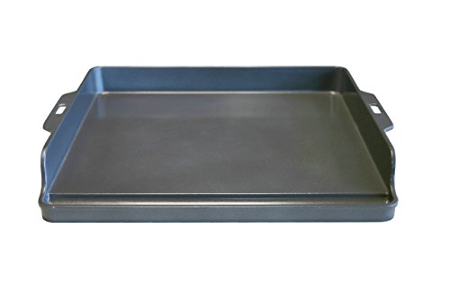 Little Griddle ANYWARE  Ceramic Cast Aluminum Back Wall Griddle, Large, Charcoal