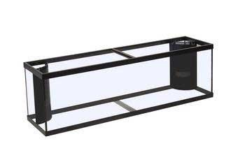 Perfecto Manufacturing APF97014 Marineland Fish Aquarium with 2 Extra High Corner-Flo 220-Gallon Tank, 72-Inch, Black