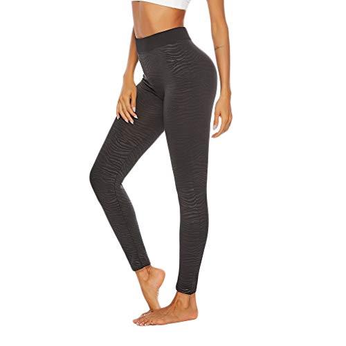 Yucode Women's High Waist Yoga Pants Tummy Control Workout Running Stretch Yoga Leggings (Croft And Barrow Womens Elastic Waist Pants)