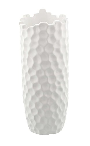- Deco 79 74692 Dimpled Honeycomb Designed Ceramic Vase, 14
