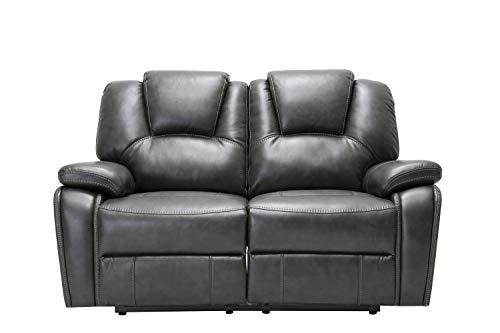 Groovy Amazon Com Homeroots Gray 40 Contemporary Grey Leather Creativecarmelina Interior Chair Design Creativecarmelinacom