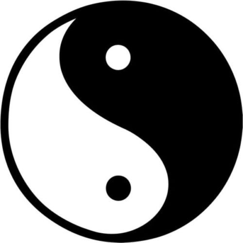 Ying Yang Tao Zen Balance Symbol Graphic Car Truck Windows Decor Decal Sticker - Die cut vinyl decal for windows, cars, trucks, tool boxes, laptops, MacBook - virtually any hard, smooth surface (Computer Stickers Ying Yang)
