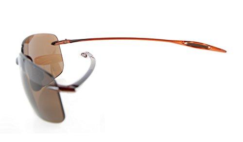 43bb5fff27 ... Eyekepper Lunettes de soleil Style Pilote demi-cerclee TR90 nylon sans  monture pour homme femme ...
