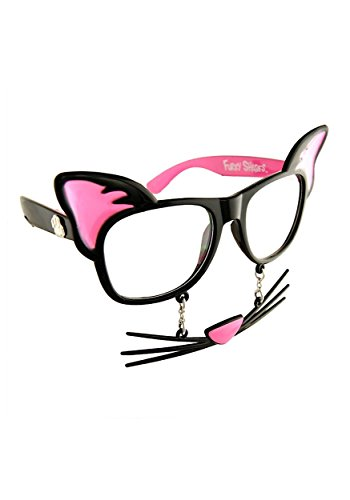 Forum Novelties Unisex-Adult's Cat Sunstaches, Standard]()
