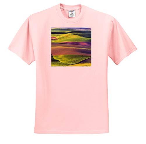 3dRose Danita Delimont - Agriculture - USA, Washington State, Palouse, Spring Rolling Hills. - Toddler Light-Pink-T-Shirt (4T) (ts_315204_49)