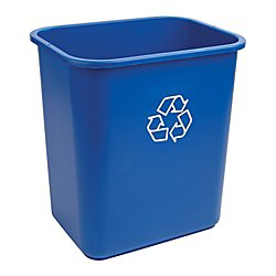 Office Depot Recycling Bin, 7 Gallons, Blue, Wb0188 by Highmark