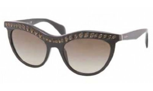 PRADA Sunglasses SPR 04P BLACK 1AB1X1 SPR04P by Prada