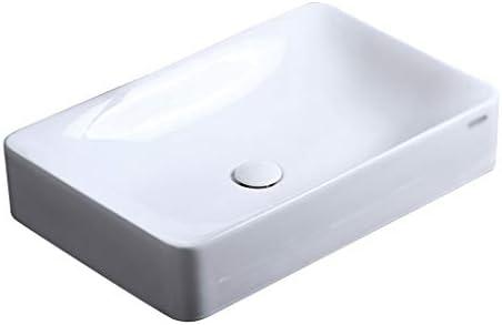 BoPin (タップなし)バスルームの洗面台、矩形のセラミック上記カウンタ流域ホームホテルバニティ技術の単一流域、2つのサイズの数 ベッセルシンクシンク (Size : 59.5X37X14cm)