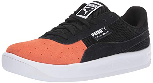 PUMA Men's California Sneaker, Nasturtium Black White, 12 M ()