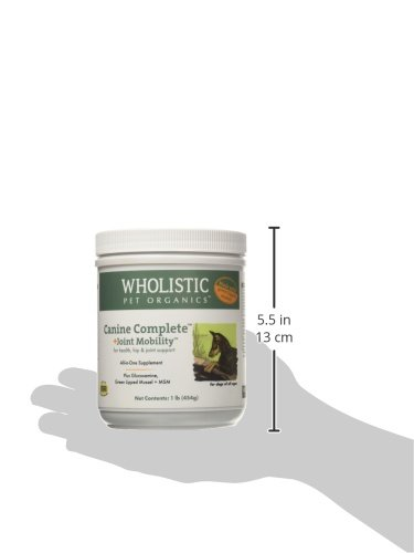 Wholistic Pet Organics Canine Complete Plus Joint Mobility with Green Lipped Muscle Supplement, 1 lb by Wholistic Pet Organics (Image #3)
