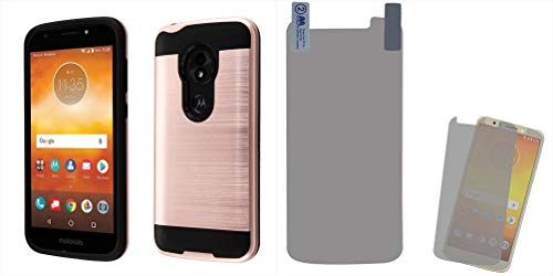 - Combo pack Rose Gold/Black Brushed Hybrid Protector Cover (with Package) for MOTOROLA Moto E5 Play MOTOROLA Moto E5 Cruise And Screen Protector Twin Pack for MOTOROLA Moto E5 Play MOTOROLA Moto E5 Cru