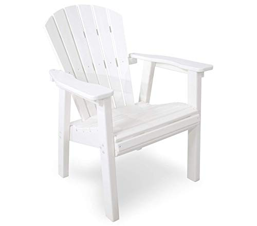 (Pоlywооd Patio Outdoor Garden Premium Seashell Casual Chair, White)