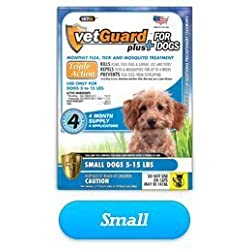 Vetguard Plus for Dogs 8 Month Supply (in 2 Pak) (Small Dogs 5-15 Lbs)