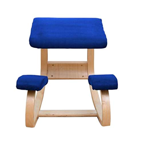 Happy Together FF Stool Ergonomic Posture Chair Fitness Stool Student Study Chair can Correctly Write Posture Protection Spine Chair (Color: Beige) (Color : D)