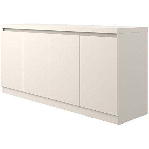 Manhattan Comfort 105855 Viennese Large Dining Room Buffet with Storage Off-White ()