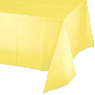 Creative Converting Touch of Color Plastic Table Cover, 54 by 108-Inch, Mimosa by Creative Converting