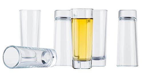 Juvale Bulk 24-Pack Clear Shooters Tall Shot Glasses for Parties, Parfaits, Dessert, Tequila, Whiskey, Vodka - 2 Ounces by Juvale (Image #1)