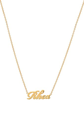 14k Gold Script Name Necklace by Zoe Lev Jewelry