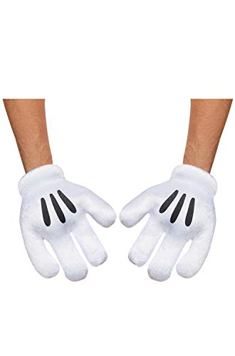 Mickey Mouse Costume Adult (Disguise Costumes Mickey Mouse Gloves,)