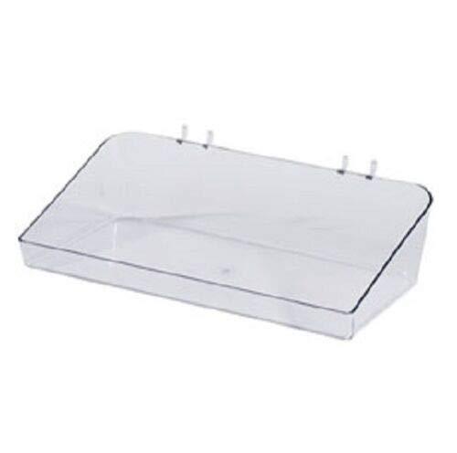 "Buy All Store 6 Slatwall Trays Acrylic Clear 6 ½"" L x 12"" W x 3"" Plastic Retail Display Bins -  buyallstore"
