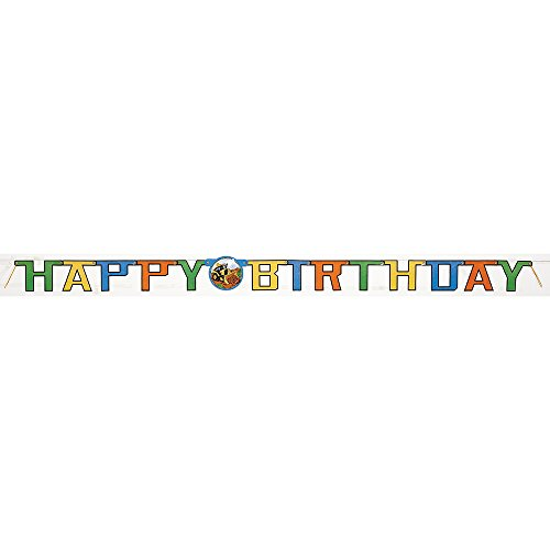 6ft Construction Happy Birthday Banner