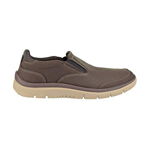 CLARKS Men's Tunsil Step Loafer, Brown, 7.5 M US