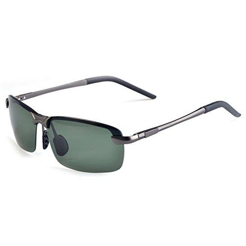 Sunglasses Men Aviator Sun Glasses Green Color Brand Design - 7