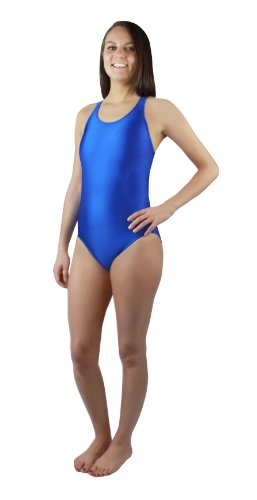 Dolfin Team Solid HP Back Swimsuit Womens - Royal 36