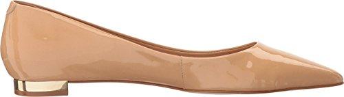 Massimo Matteo Womens Pointy Toe Flat 17 Nude Patent 8uQ4wR