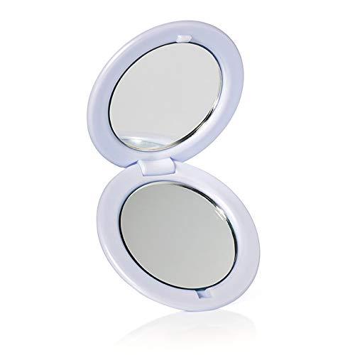 Espejo Portatil para Viajar Marca e.l.f'Travel Mirror'. Color Blanco. ELF Cosmetics Modelo: 1701