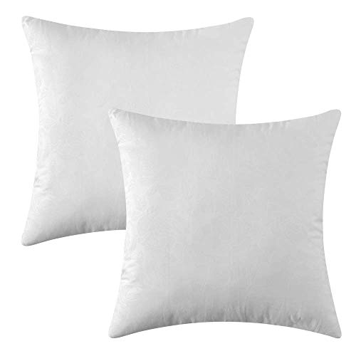 MIULEE Pack of 2, Decorative Pillow Insert Polyester Cotton Indoor White Adjustable Throw Pillows for Sofa Bed 18