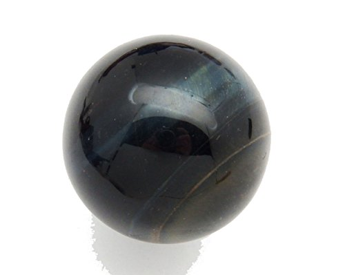 Fundamental Rockhound Products: 30 mm Blue Tiger Eye Gemstone Sphere with Stand