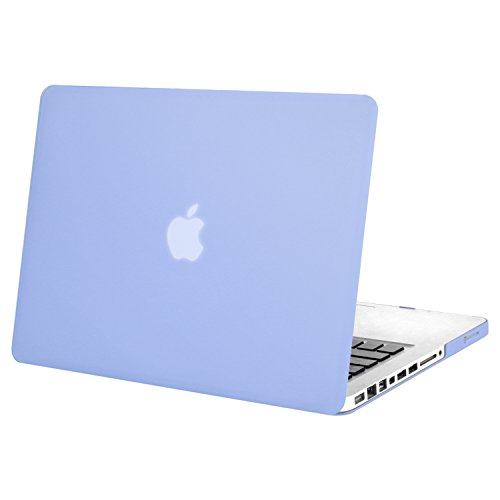 MOSISO Plastic Hard Shell Case Cover Only Compatible Old MacBook Pro 13 Inch (A1278 CD-ROM), Release Early 2012/2011/2010/2009/2008, Serenity Blue