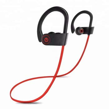 Wireless Sport Earphone, Bluetooth 4.1, HiFi Bass Stereo Earbud, Sweatproof Headphone w/Mic, Noise Cancelling Headset for Workout, Running, Gym (2019 Upgrade)