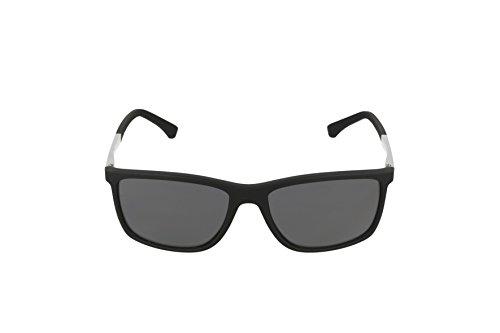 Emporio Armani EA4058 506381 Matte Black EA4058 Wayfarer Sunglasses Polarised L