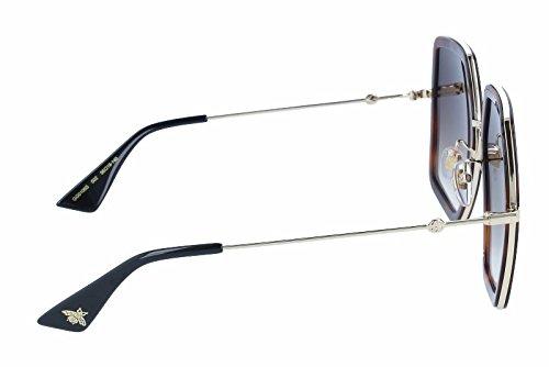 gucci 0106s. sunglasses gucci gg 0106 s- 002 avana / brown gold 0106s